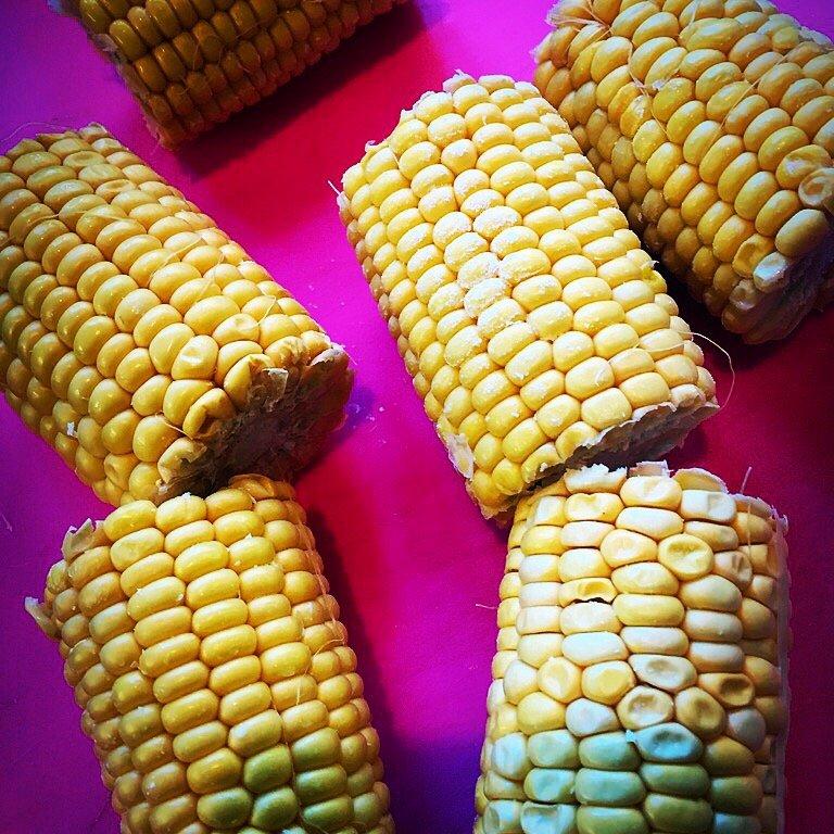 Corn on the cob in a coconut gravy