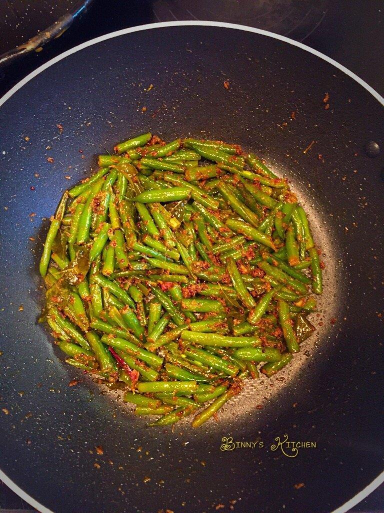 Spicy Runner Beans