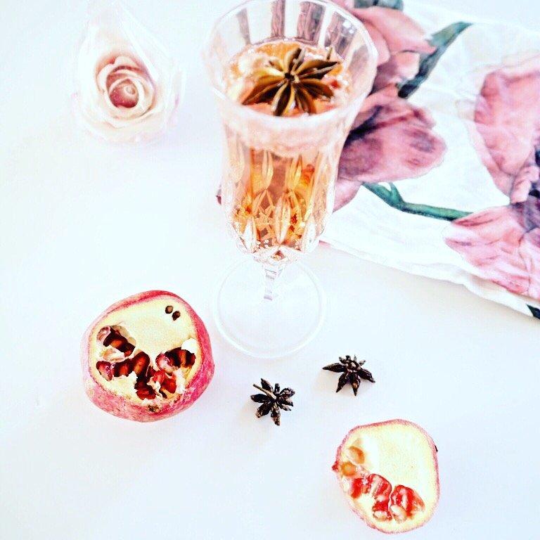 Spiced Strawberry and Pomegranate Fizz