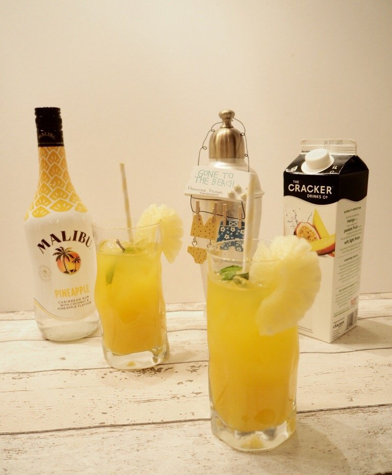 Pineapple, Mango & Passion Fruit cocktail