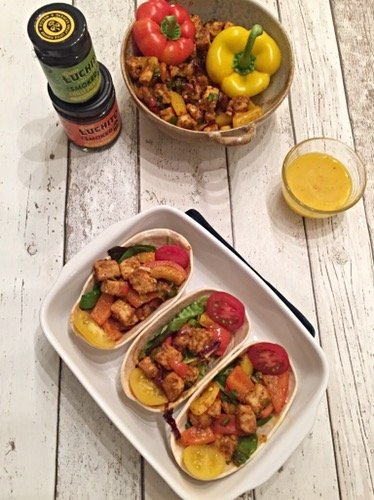 Spicy Mexican Vegetarian Tacos