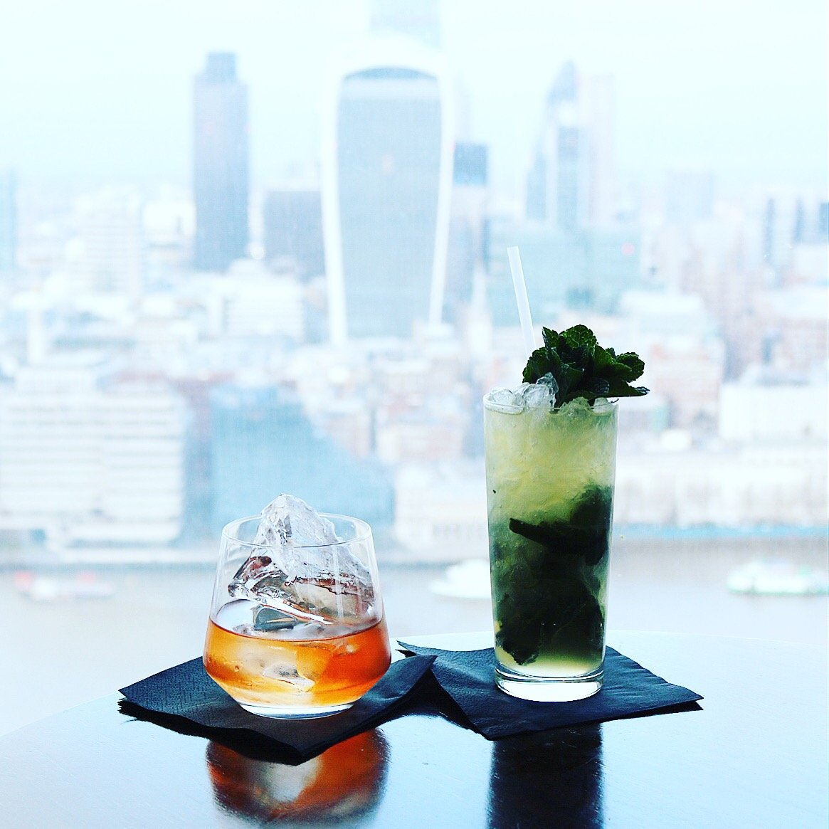 Breakfast and Cocktails with Panoramic views at Aqua Shard