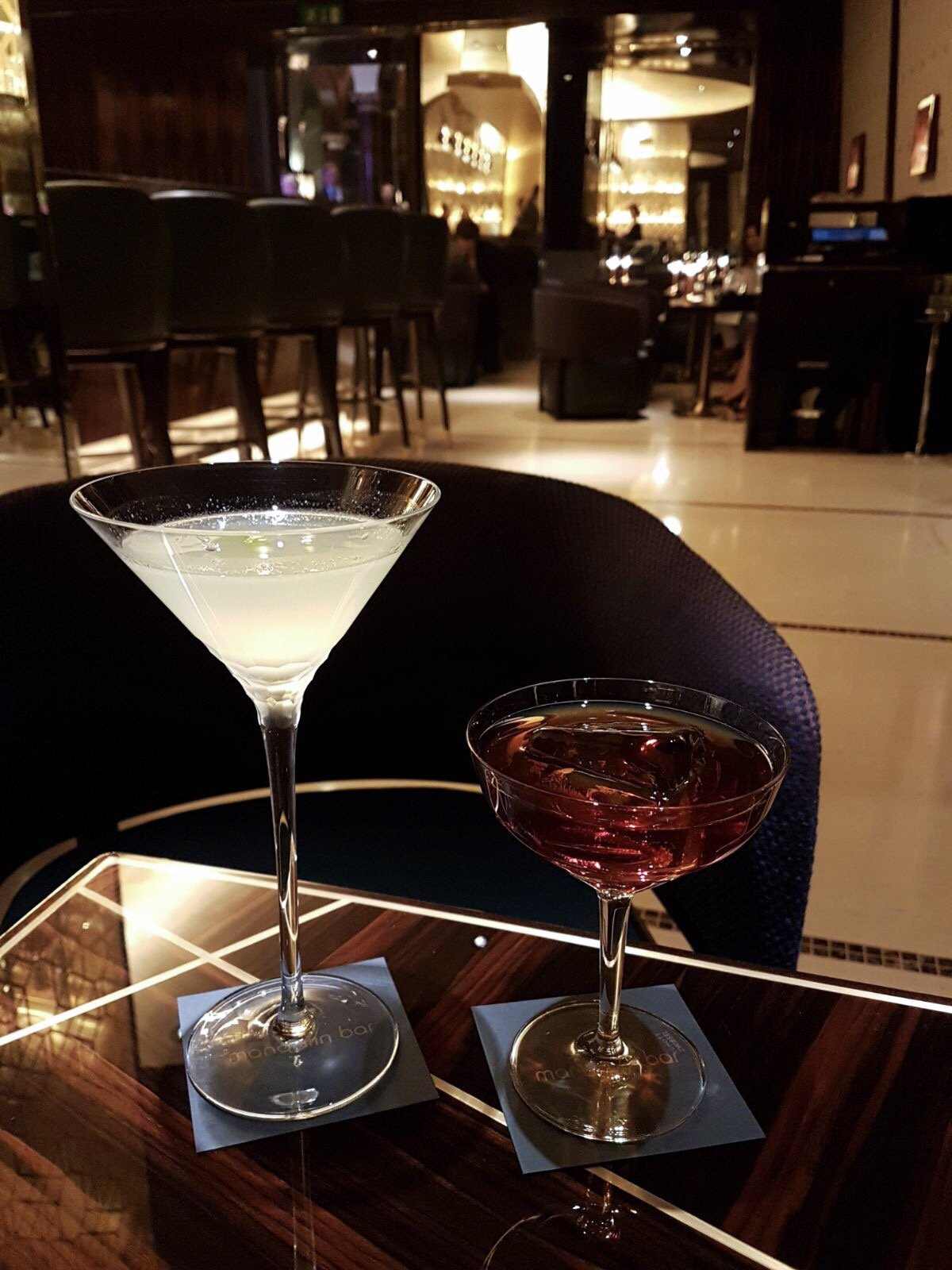 Date night at The Mandarin Bar, Mandarin Oriental