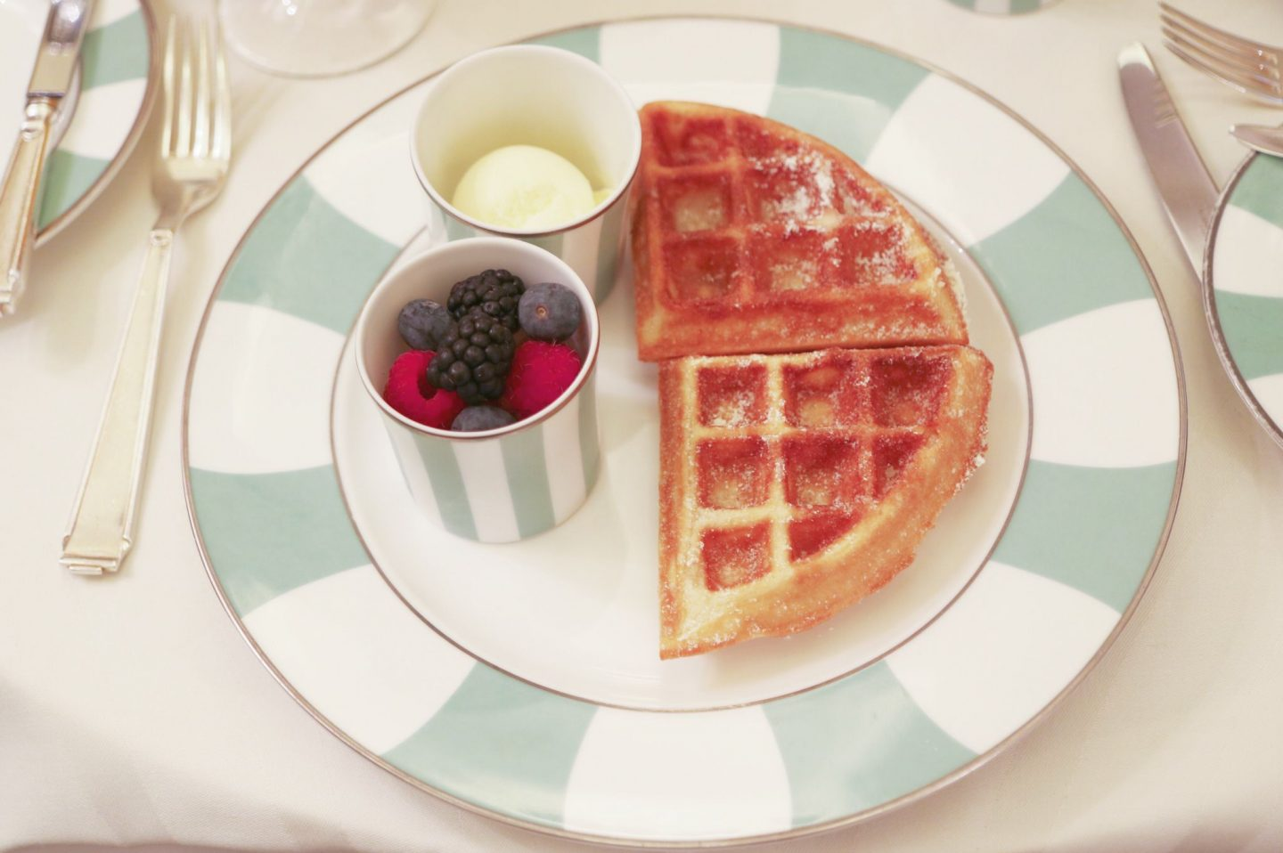 Waffles at Claridge's
