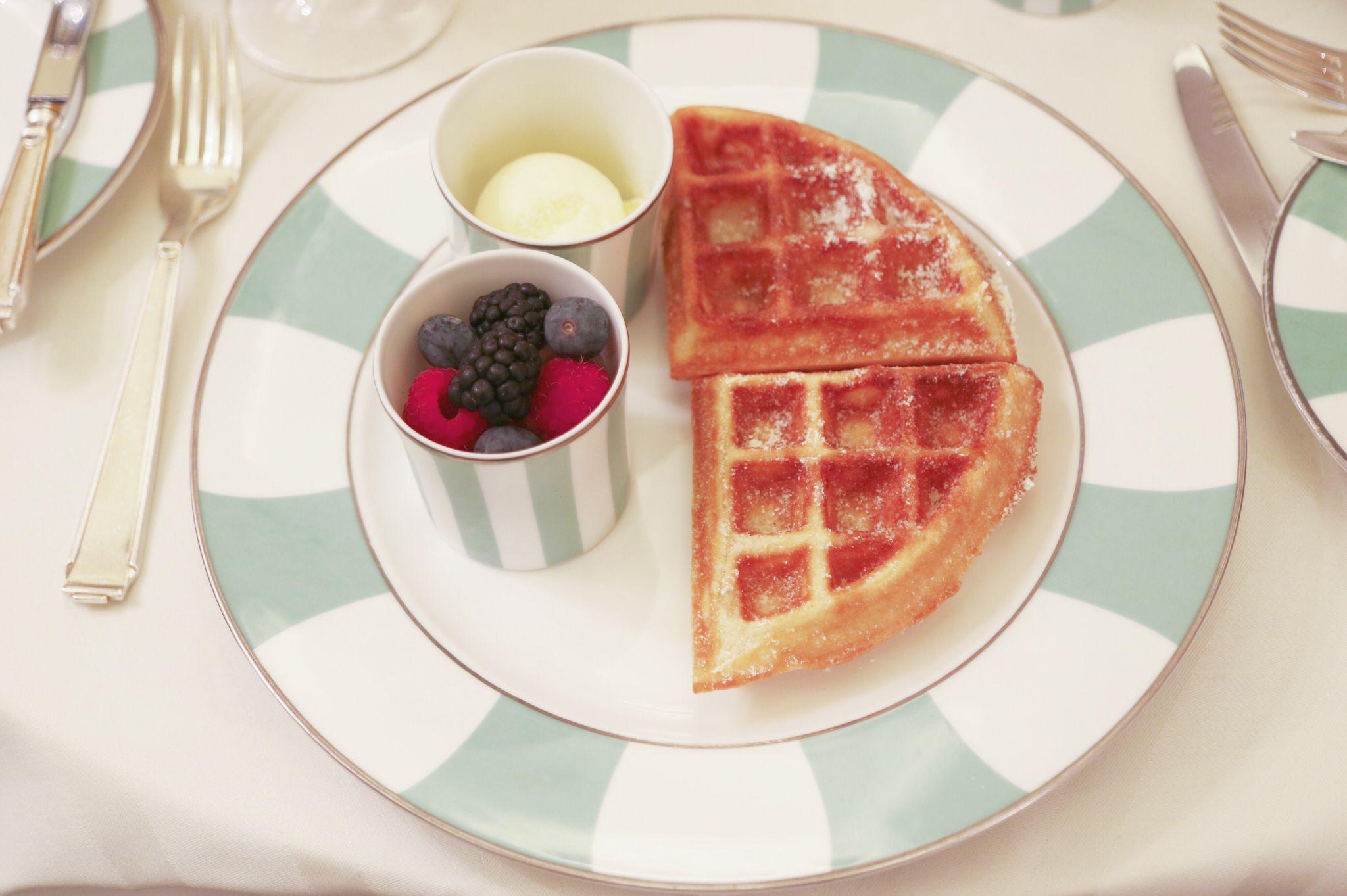 Waffles at Claridge's