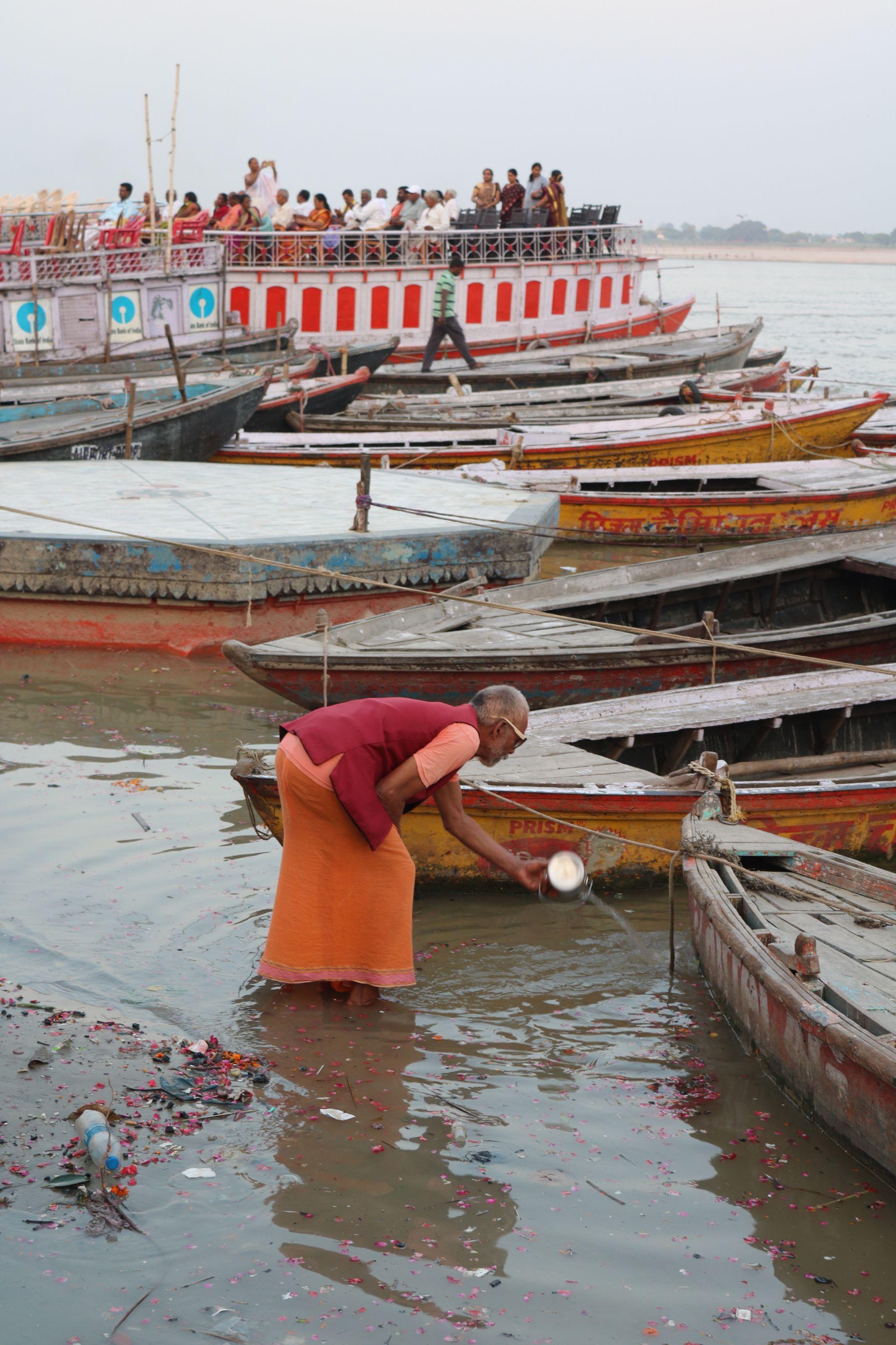 The Ganges River at Varanasi
