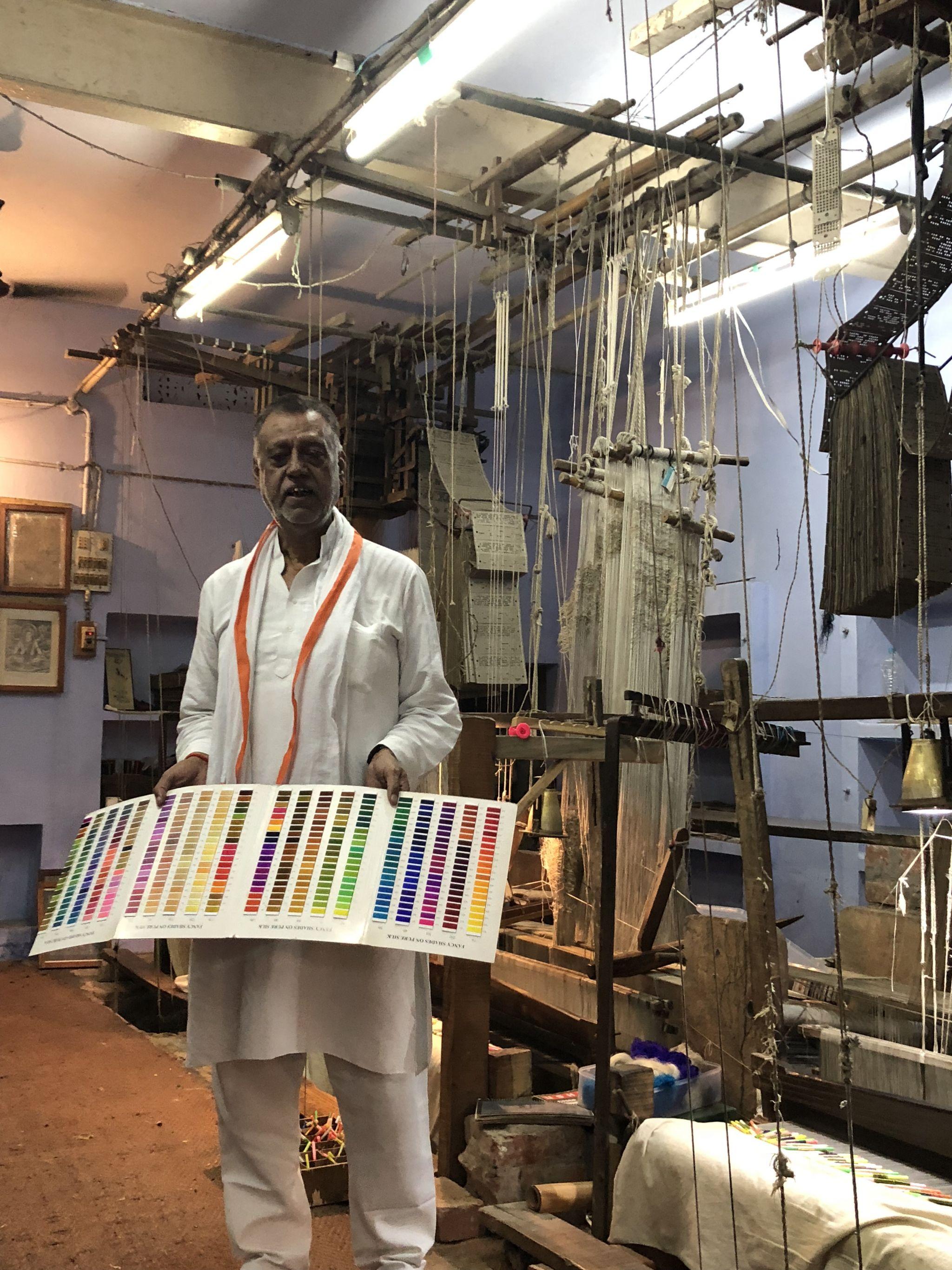 Silk weaving Varanasi
