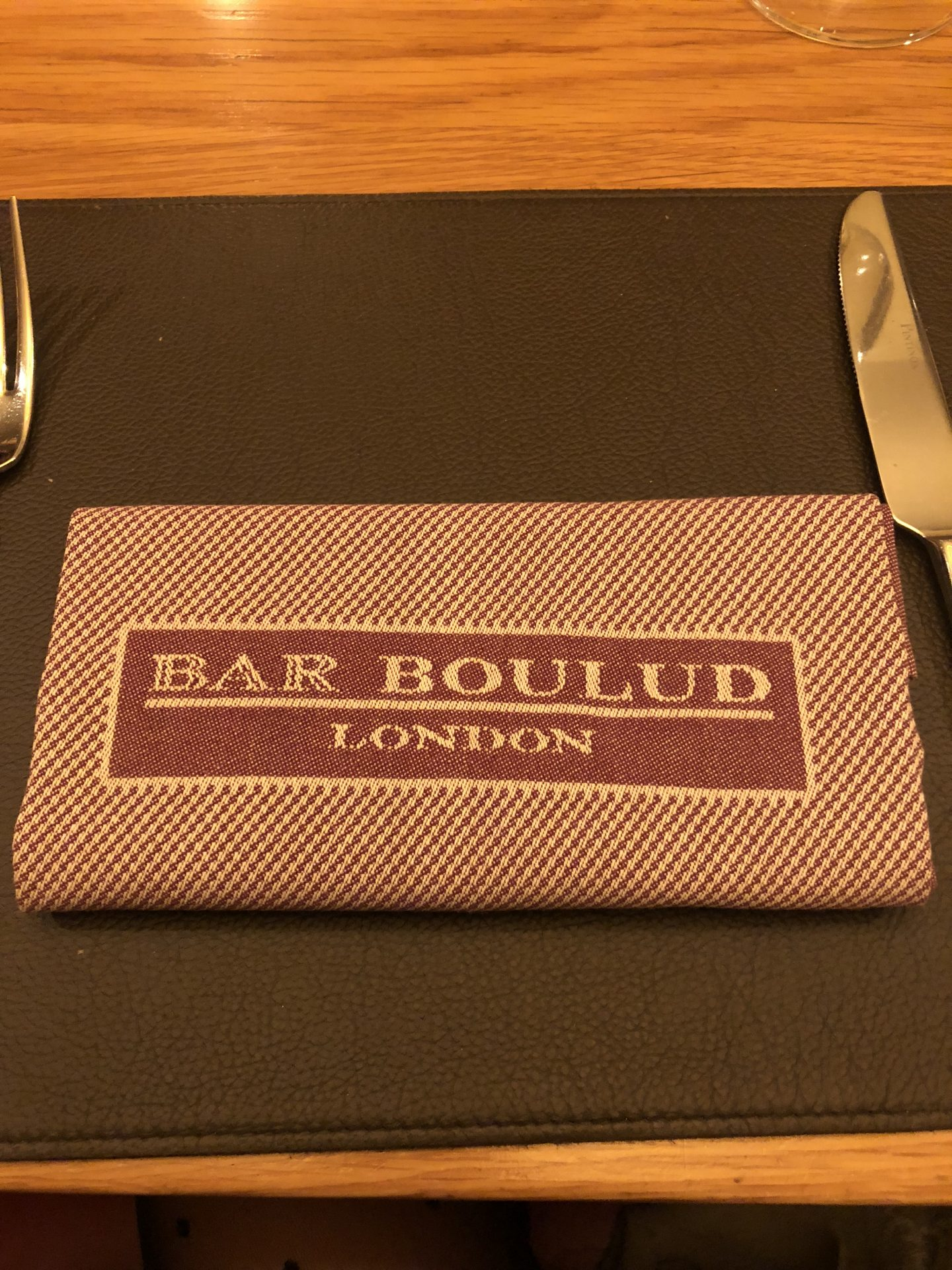 Dinner at Bar Boulud London