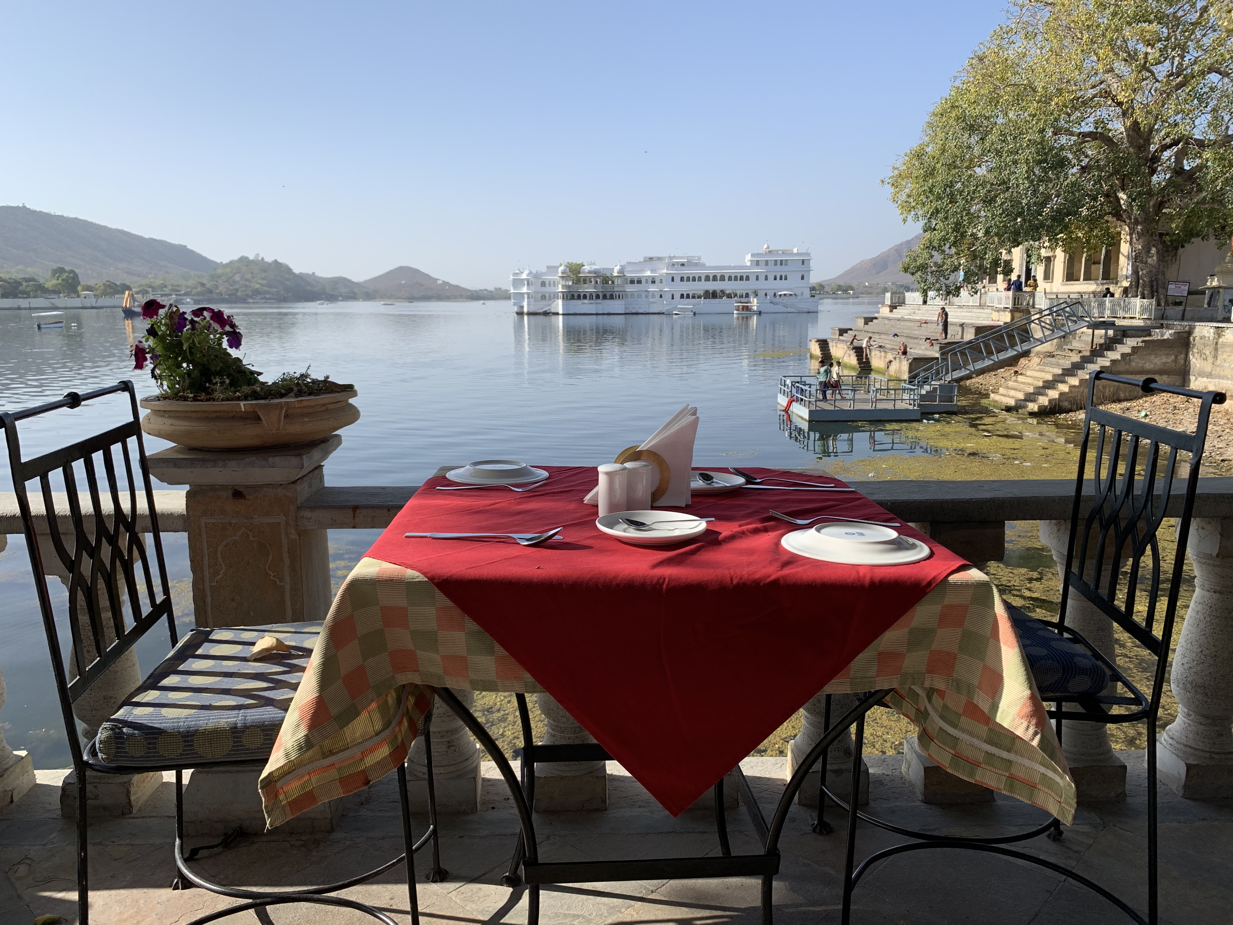 Dine with a beautiful view in Udaipur