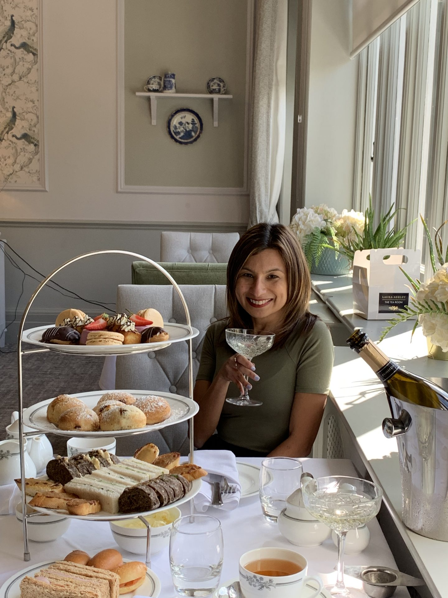 Experiencing the Laura Ashley Afternoon Tea and an overnight stay at the Laura Ashley Hotel, The Iliffe